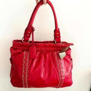 Badgley Mishka red satchel